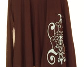 Tie Cardigan with Hamsa Print