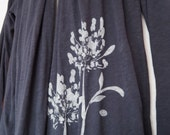 Navy Drape Cardigan with Agapanthus