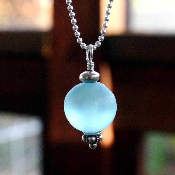 Orbital Necklace - Capri Blue