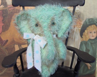 Elephant Pattern primitive mohair Sewing e pattern Mini Elly Peanut