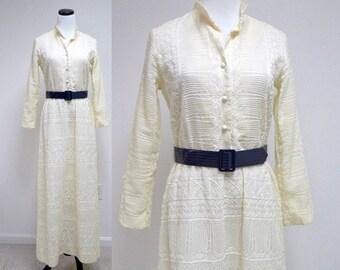 MISS LEA . embroidered fabric . maxi dress . small to medium