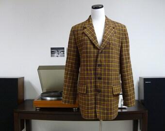 80s 90s . DKNY . Fall colors . plaid . WOOL suit jacket / blazer . for MEN . size 10 medium