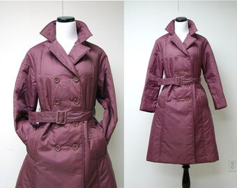 """BROMLEIGH . vintage double breasted coat . size 12P . bust 41.25"""""""