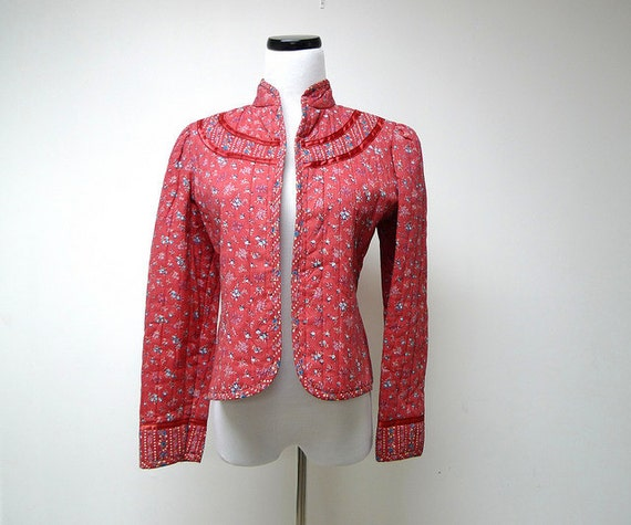 1970 vintage Cleveland Street quilted cotton light jacket . size 9