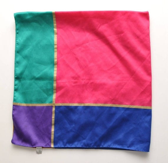 BOLD STAR . vintage scarf . Large