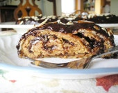 Recipe Decadent Almond Espresso Coffee Ganache Dessert Roll vegan friendly