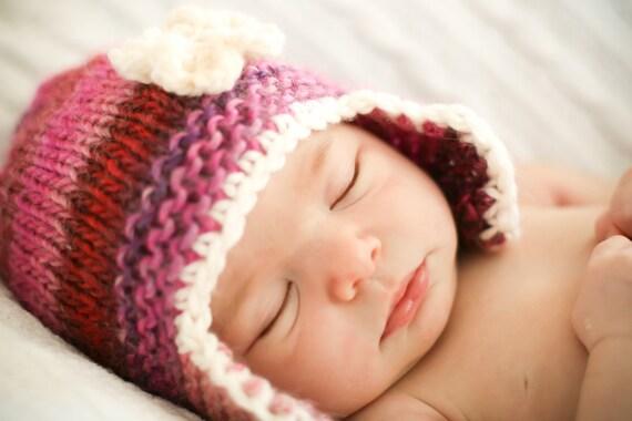 Knitting Pattern Peruvian Hat : Peruvian Flower Hat knitting PATTERN pdf format NEW by ...