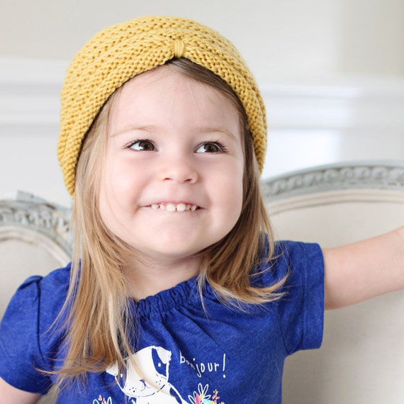 Beehive Turban Knitted Hat - knitting PATTERN - pdf format