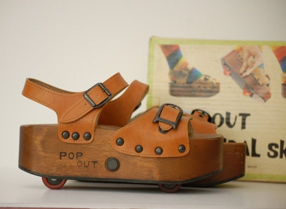 vintage pop out sandal skates