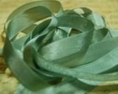 Sage Vintage Seam Binding Ribbon 1/2 inch