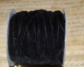 3/8 inch Raven Black Velvet Ribbon