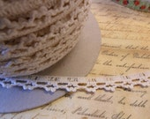 3/8 Petite Crochet Cream Lace Trim