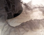 Glorious Gray Gathered Tulle Ruffle 1.5 inches wide