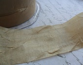 Antique Gold 1.5 inch wide silky crushed sheer ribbon