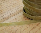 3/8inch Moss Green Velvet Ribbon