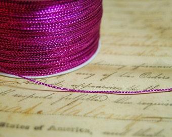 Hot Raspberry Pink Tiny Tinsel Cord