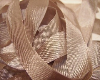 Champagne Vintage seam binding ribbon 1/2 inch