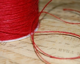 Cherry Red Jute Twine String 1 mm