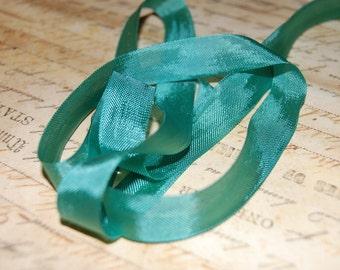 Jade Green Vintage Seam Binding Ribbon