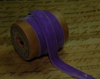 3/8inch Very Violet Velvet Ribbon