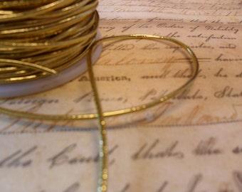Metallic Gold Elastic Cording