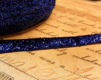 3/8 Metallic Royal Blue Velvet Ribbon