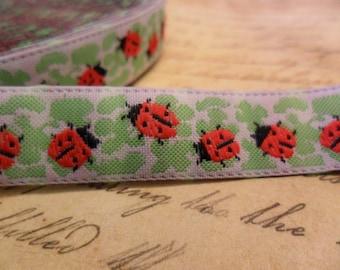 Lovely Ladybug Woven Ribbon Trim
