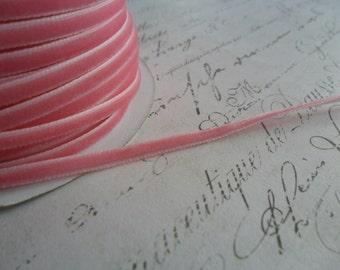 1/8 Cotton Candy Pink Velvet Ribbon