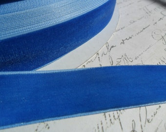 Deep Cornflower Blue 7/8 Velvet Ribbon