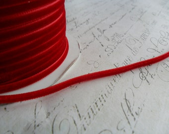 1/8 inch Ruby Red Velvet Ribbon