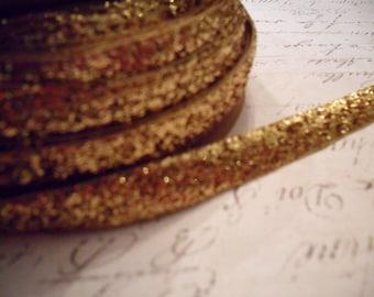 Metallic Gold Velvet Ribbon