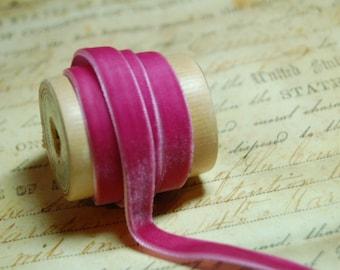 3/8inch Antique Rose Velvet Ribbon