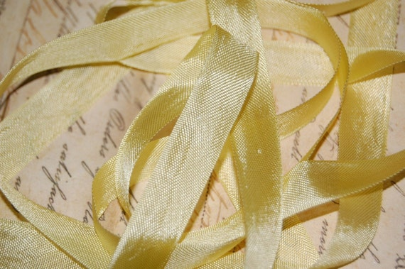 Banana Cream Pie Vintage Seam Binding Ribbon