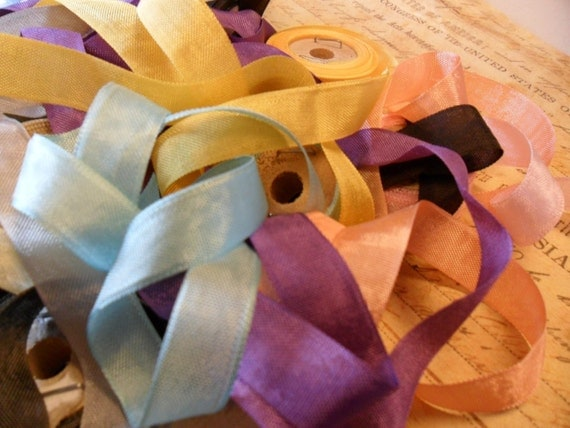 30 Yards any combination of Vintage Seam Binding Ribbon