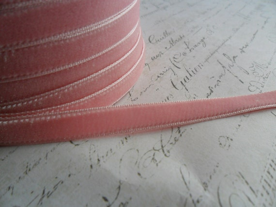 3/8 Cotton Candy Pink Velvet Ribbon