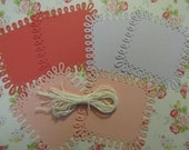 Colored Loop Square Paper Doily Tags