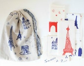 Paris  remnant set red / blue