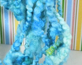 Handspun Art Yarn- Tropical Breeze - Signature Jazzturtle WildPlied Artisan Yarn