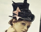 Victorian Top Hat In Velvet - The Beaux - As Seen in True West Magazine - and - Jean Campbell's Steampunk Jewelry