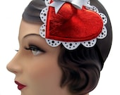 The Sweetheart - Valentine's Day Hat - Fascinator - Leather