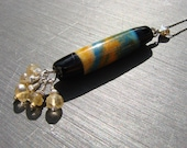 Sunny Day necklace - handmade lampwork bead