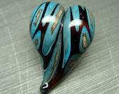Southwest Heart - handmade lampwork bead