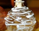 Small White Wrapped Glass Bottle Hand Blown and Created by Jenn Goodale