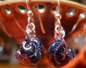 Glass Shell Earrings Hand Sculpted by Jenn Goodale