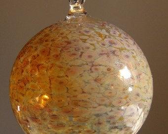 Small Butterscotch Glass Ornament Hand Blown by Jenn Goodale