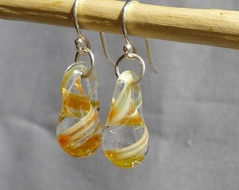 Glass Droplet Earrings Hand Sculpted by Jenn Goodale