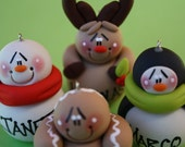 Personalized Clay Christmas Ornaments 2 OF CHOICE