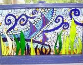 Sun catcher vintage window art mosaic