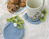 Blueberry Coaster Set of 4 in Cotton