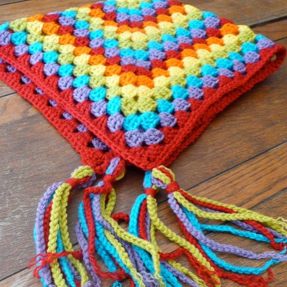 Granny Square Baby Afghan Blanket - Octopus Garden Rainbow